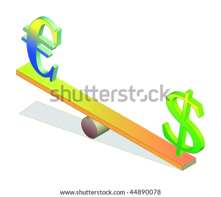 Euro and dollar on seesaw