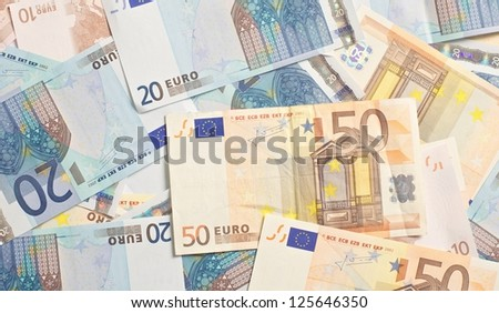 Euro as investment to the stock market - stock photo