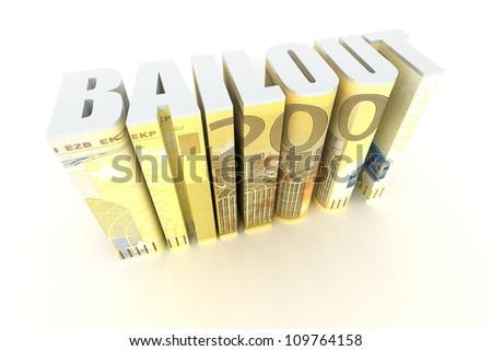 Euro Bailout - stock photo