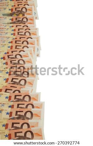 Euro bank notes - stock photo