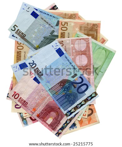 Euro bank notes money (European Union currency)