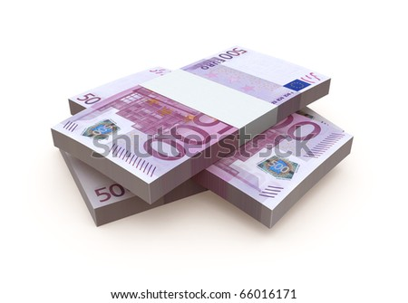 Euro 500 banknote currency (clipping path) - stock photo