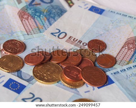 Euro banknotes and coins (EUR) - currency of the European Union