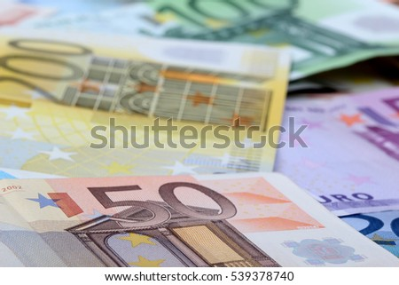 Euro banknotes - background, texture