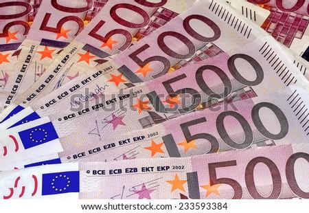 Euro Banknotes Five Hundred 500 - stock photo