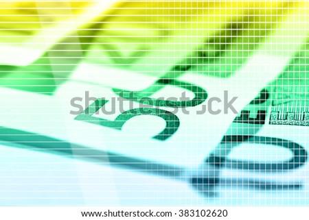 Euro banknotes, macro view - stock photo