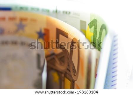 Euro Bills. Macro background.  - stock photo