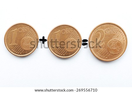 Euro Cent - stock photo