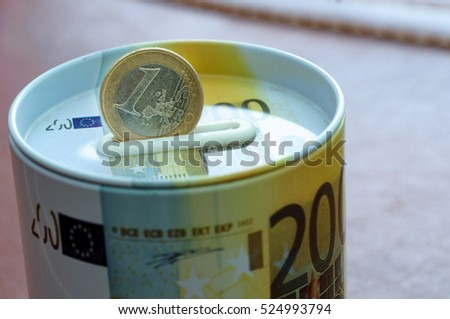 Euro coin on money safe bank for investment. Protection your finance for the future.Profit,safe , making money. For business and finance concept.