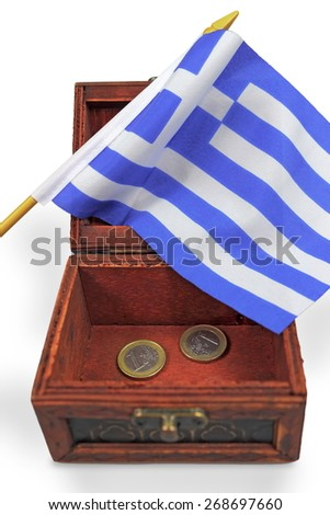 Euro crisis Greece - stock photo