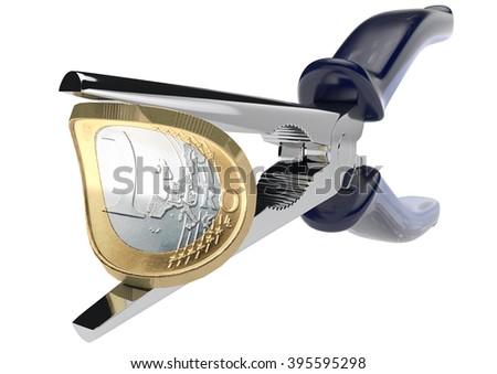 Euro-crush - stock photo