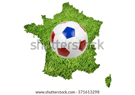 Euro cup football championat in France - stock photo