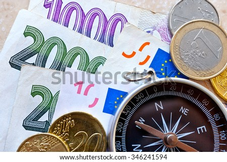 Euro  currency and Czech crown money - exchange rate - economy and finance in international business - import and export - stock photo