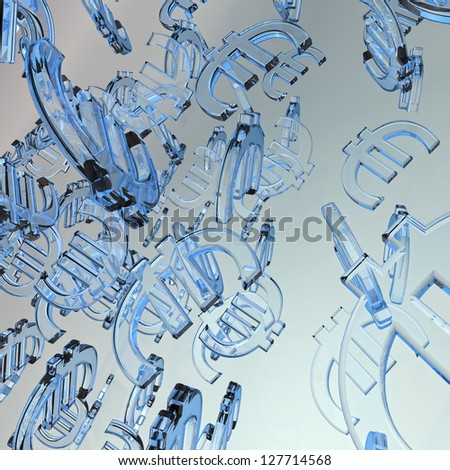 Euro Currency background - stock photo