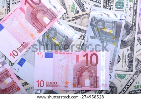euro currency banknotes. european money background - stock photo