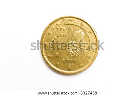 euro currency isolated on white
