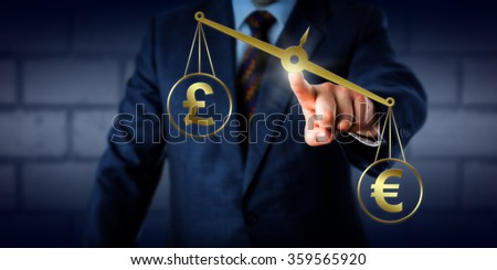 Investor Trading British Pound Sterling Par Stock Photo 357379958 Euro