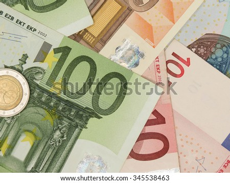 Euro (EUR) banknotes and coins - legal tender of the European Union