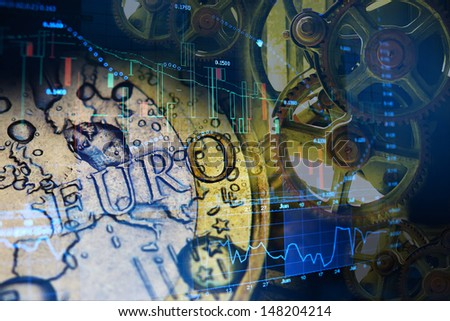 euro gears - stock photo