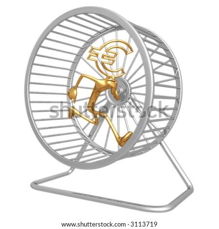 Euro Hamster Wheel Runner - stock photo