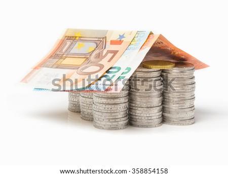 Euro House, financing - stock photo