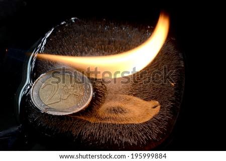 euro ice fire - stock photo