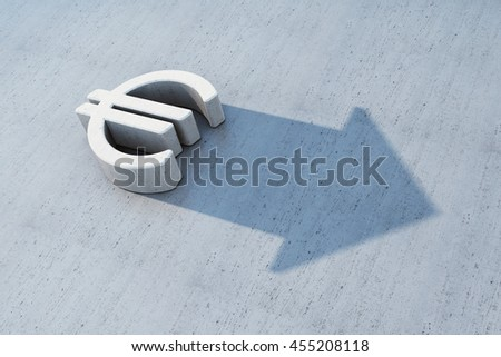 euro is grow, 3d concept - stock photo