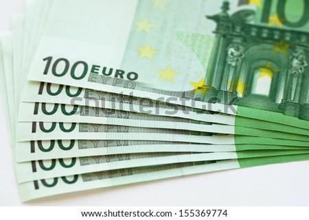 Euro money banknote, - stock photo