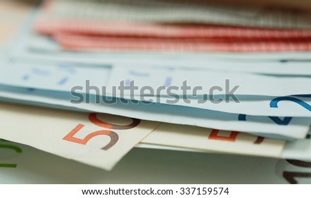 Euro Money Banknotes as background - stock photo