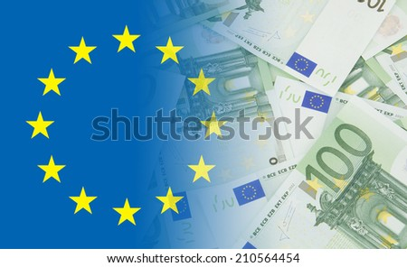 Euro notes background  - stock photo