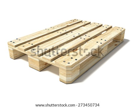 Euro pallet. 3D render illustration isolated on white background