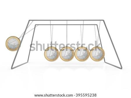 Euro-Pendulum-2 - stock photo