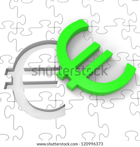 Euro Puzzle Showing European Investments And Savings