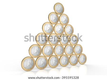 Euro-Pyramid - stock photo