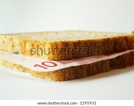 euro sandwich - stock photo