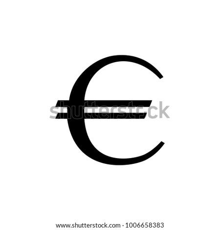 Euro Sign Icon Element Money Symbol Stock Illustration 1006658383