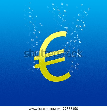 Euro sinking, gold color