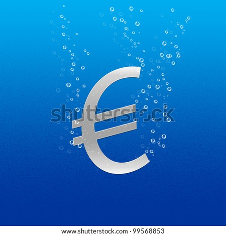 Euro sinking, silver color