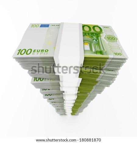 Euro stack - stock photo