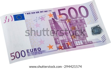 Euro Symbol, European Union Currency, Five Hundred Euro Banknote. - stock photo