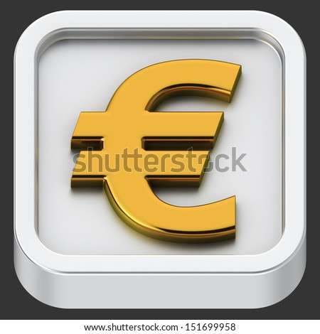Euro symbol rounded square shape application icon
