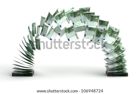 Euro Transfer (isolated with clipping path) - stock photo