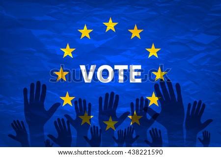 euro vote flag. vote for the European choice art - stock photo