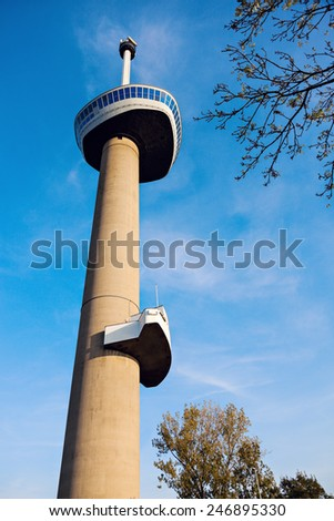 Euromast in Rotterdam, South Holland, Netherlands. - stock photo
