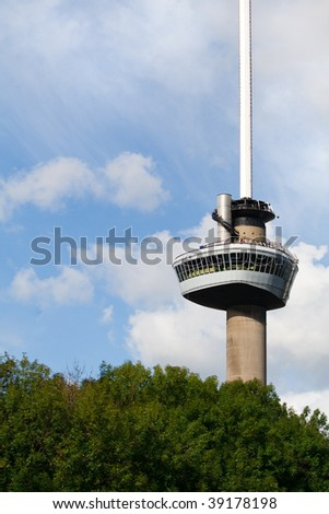 Euromast tower. A landmark of Rotterdam, The Netherlands