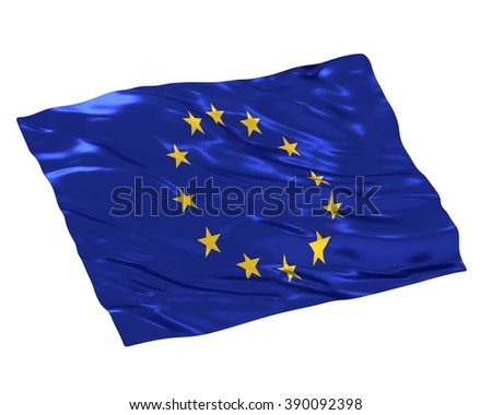 Europa Union flag on white background