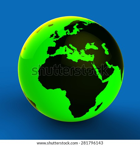 Europe Africa Globe Meaning Global Country And Nation