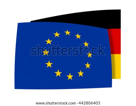 Europe and Germany Flag isolated design