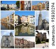 Europe cities collage - stock photo