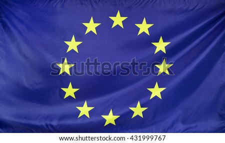 Europe Flag real fabric seamless close up
